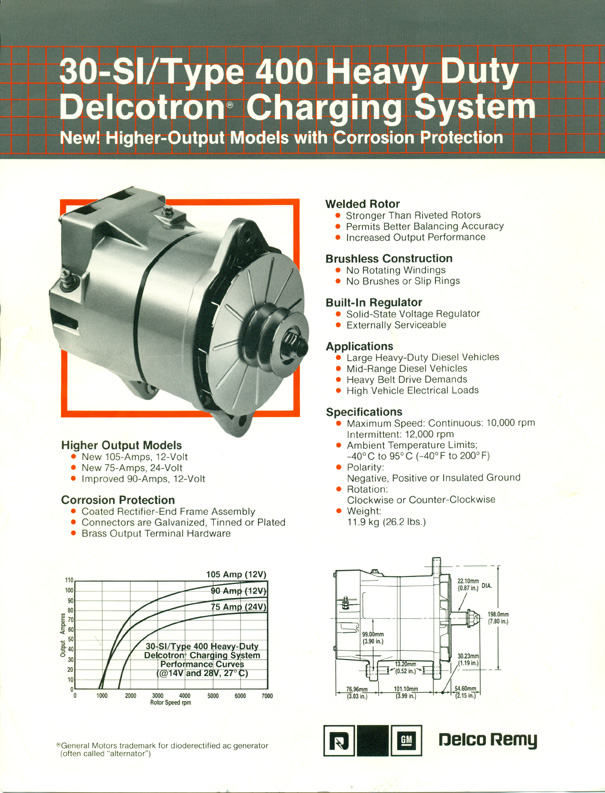 delco remy division product brochures variouis products rh delcoremyhistory com Delco Remy Alternator Diagram Delco Remy Alternator Wiring Diagram