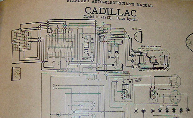 delco remy division product history starters 12 and 24 Volt Wiring this is the wiring diagram developed by kettering for the 1912 cadillac the starter is a 24 volt motor in 6 volt system resulting in four 6 volt batteries
